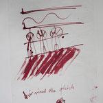 zu  SEELENREISE, 1996, Zeichnung Tusche auf Seidenpapier