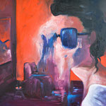 The girl with the sun glasses / 65 x 54 cm