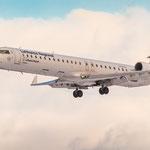Canadair CRJ-900 im Final (Lufthansa CityLine / D-ACKE)
