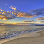 Sonnenaufgang an der Costa Rei - 6:43Uhr - Die Wolken machten den Moment perfekt