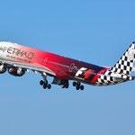 A6-EHJ Airbus A340-642 Etihad Airways (Abu Dhabi Grand Prix livery)