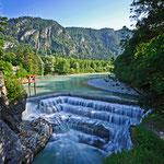Juli - Sommer im Allgäu - Lechfall bei Füssen