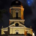 Neuburg an der Donau - Hofkirche bei Nacht im Winter