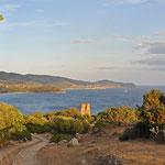 Malerischer Sunset an der Südküste zwischen Villasimius und der Hauptstadt Cagliari