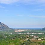 Blick auf das Mittelmeer bei Gandia