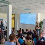 In Neuburg wurde der Rekord vom Boden aus Aufgezeichnet und live übertragen