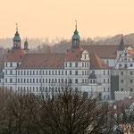 Neuburg an der Donau - Das Neuburger Schloss im Sonnenuntergang