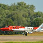 Ein Learjet der Deutschen Luftrettung drehte einige Runden
