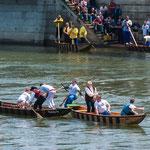 Kein Gewinner - ab ins kalte Donauwasser