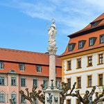 Neuburg an der Donau - Brunnen am Karlsplatz in der Altstadt