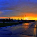 Sonnenuntergang auf der Eielson AFB