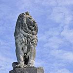 Der Löwe an der Einfahrt des Lindauer Hafens