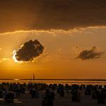 Sonnenuntergang am Strand von Harlesiel. Wer da nicht entspannen kann ist selbst Schuld...