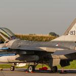 Goedemorgen, goed geslapen??? F-16 aus Holland am Donnerstagmorgen