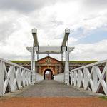 Zurück in den Highlands - Eingang zu Fort George, östlich von Inverness