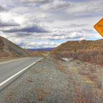 Denali Highway - Hier gehts dann so Richtig los, 150 Meilen Schotterpiste