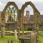 Die Überreste der Elgin Cathedral.
