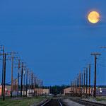 Der Mond um zwei Uhr Nachts