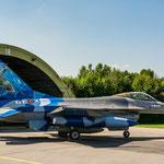 Eine der beiden belgischen F-16