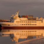 Mit diesem Schiff gehts auf die Insel Wangerooge...