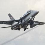 F-18 aus der Schweiz beim Take-off - 19.06.2014