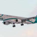 Mit neuen Fliegern in München am Start: Aus Turin kommende Air Dolomiti Embraer ERJ190-200LR (I-ADJN)