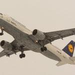 Fünf Minuten später...Endanflug im Schneesturm (Airbus A320-211 / Lufthansa / D-AIPL)