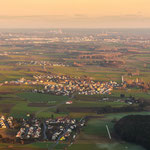 In der Bildmitte Nassenfels, weiter östlich Ingolstadt (Punkt 6 auf der Karte)