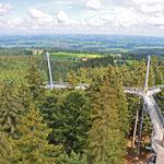Skywalk Allgäu - Vom Baumwipfelpfad bieten sich tolle Ausblicke über die Region