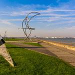 Die Pirita-Promenade mit Michael Park Denkmal