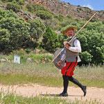 Don Quijote in Naturpark Lagunas de Ruidera