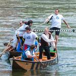 Promiduell: Beim ersten Duell gab es keinen Sieger, beide Kontrahenten landen in der Donau