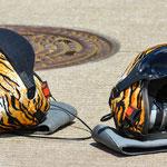 Pause... Helme der Wartungscrews der Bavarian Tigers