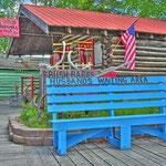 Pioneer Park in Fairbanks - Die Bank ist toll, was fehlt ist der Bierstand