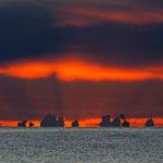 Sonnenaufgang an der Costa Rei - 6:23Uhr - Die Wolken über dem Meer machten das Farbspektakel perfekt