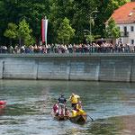 Die Zuschauer am Donaukai erlebten spannende Duelle