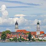 Blick auf Lindau vom Bodensee aus