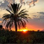 Auch auf dem Flugplatz Decimomannu gab es Traumhafte Sonnenuntergänge zu bestaunen.
