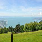 Blick über den Bodensee vom Pfänder in Österreich