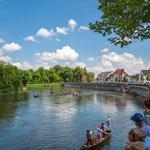 Am Donaukai unterhalb der Elisenbrücke