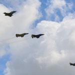 Alt und Neu: F-4F Phantom und Eurofighter