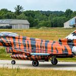 Das Schmuckstück, der Tiger Eurofighter der Bavarian Tigers, wartet auf die Startfreigabe - 19.06.2014