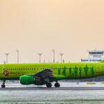 Take-off Richtung Moskau...wo das Wetter bestimmt auch nicht besser war... Airbus A320-214 - S7 Airlines (VQ-BDF)
