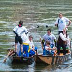 Events in Neuburg an der Donau - Historischer Wettkampf auf der Donau beim jährlichen Fischerstechen