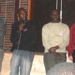 Représentants du piquet de grève de La Porte des Lilas (dehors depuis l'automne)