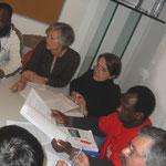 Réunion du comité de soutien avec les représentants des grévistes.
