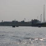auf der Elbe - zurück, in Richtung Schleuse Niegripp