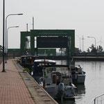 Blick in Richtung Schiffshebewerk Rothensee