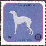 Italian Greyhound-Stamp of Scotland.