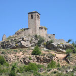Die verfallende Kirche im verlassenen Dorf Bagüeste.
